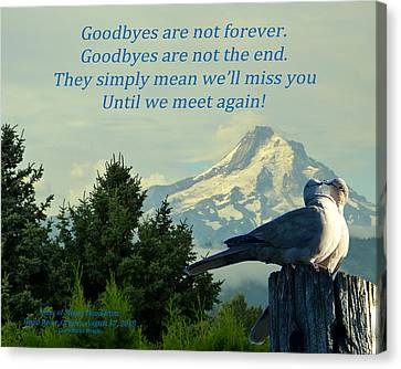 Until We Meet Again Canvas Print
