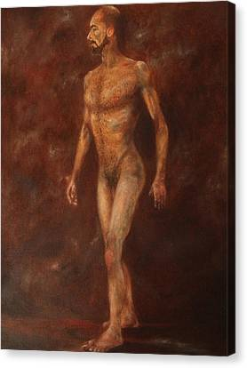 The Nude Walking Canvas Print