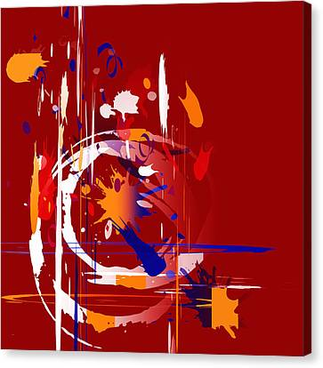 Canvas Print featuring the digital art Untitled 35 by Andrew Penman