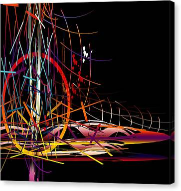 Canvas Print featuring the digital art Untitled 58 by Andrew Penman