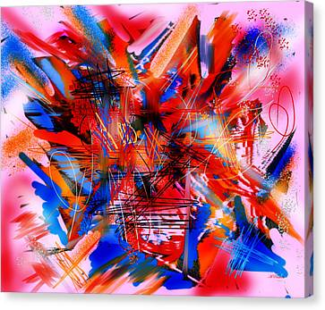 Canvas Print featuring the digital art Untitled 67 by Andrew Penman