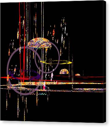 Canvas Print featuring the digital art Untitled 68 by Andrew Penman