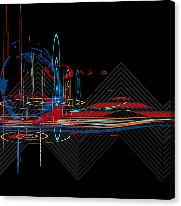 Canvas Print featuring the digital art Untitled 76 by Andrew Penman
