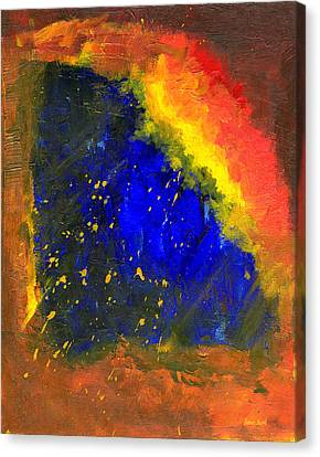 Canvas Print featuring the painting Untitled Abstract 8-1614 by Sean Seal