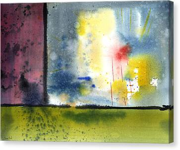 Canvas Print featuring the painting Untitled Abstract 84-14 by Sean Seal