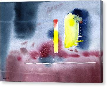 Canvas Print featuring the painting Untitled Abstract 9-114 by Sean Seal