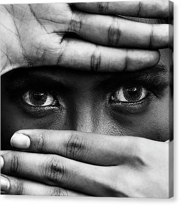 Hiding Canvas Print - Untitled by Ajie Alrasyid