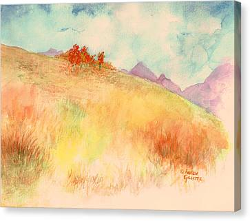 Canvas Print featuring the painting Untitled Autumn Piece by Andrew Gillette