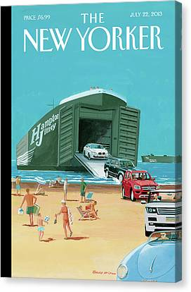 New Yorker July 22nd, 2013 Canvas Print by Bruce McCall