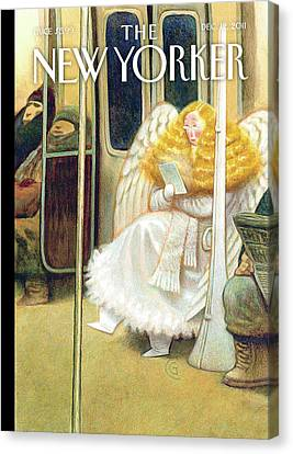 Blonde Canvas Print - New Yorker December 12th, 2011 by Carter Goodrich