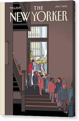 New Yorker January 7th, 2013 Canvas Print by Chris Ware
