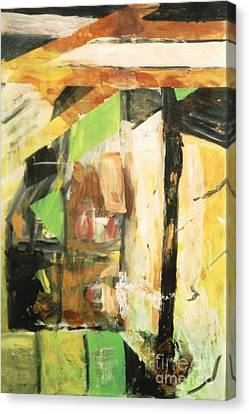 Canvas Print featuring the painting Untitled Composition IIi by Fereshteh Stoecklein