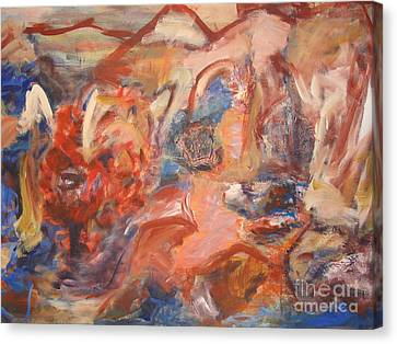 Canvas Print featuring the painting Untitled Composition IIII by Fereshteh Stoecklein