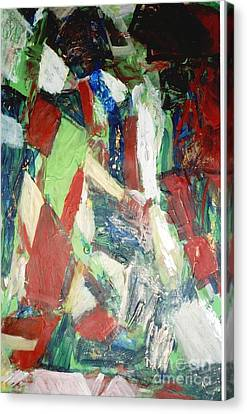 Canvas Print featuring the painting Untitled Compositionii by Fereshteh Stoecklein