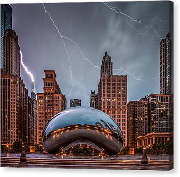 Chicago Skyline Canvas Print - Untitled by Cory Dewald