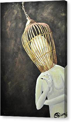 Untitled For The World To Figure Out Canvas Print by Stefanie M Valverde