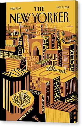 New Yorker January 31st, 2011 Canvas Print by Frank Viva