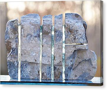 Untitled Glass And Rock Sculpture Canvas Print by Tommy  Urbans