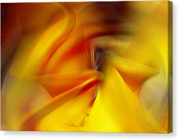 Untitled Gold Abstract Canvas Print by rd Erickson
