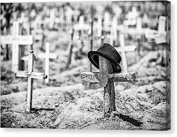Cemetary Canvas Print - Untitled by Goran Jovic