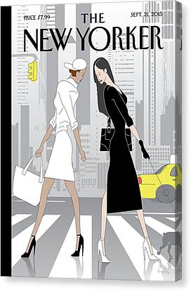 Nyc Canvas Print - New Yorker September 21st, 2015 by Greg Foley