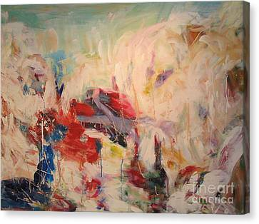 Canvas Print featuring the painting untitled II by Fereshteh Stoecklein