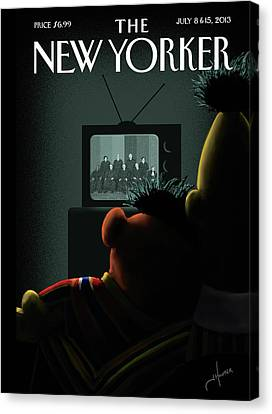 Street Canvas Print - New Yorker July 8th, 2013 by Jack Hunter