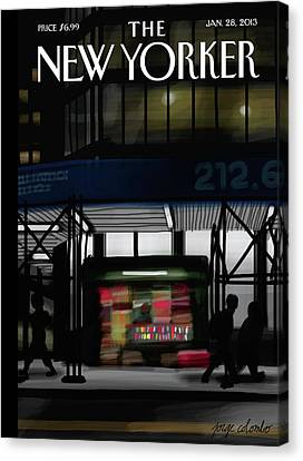 New Yorker January 28th, 2013 Canvas Print by Jorge Colombo