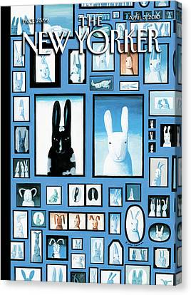 Easter Bunny Canvas Print - New Yorker April 5th, 2010 by Kathy Osborn