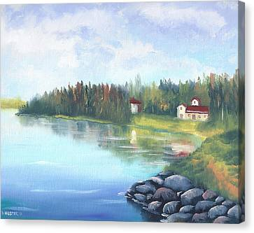 Untitled Landscape Oil Painting Canvas Print