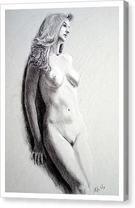 Canvas Print featuring the painting Untitled Nude by Joseph Ogle