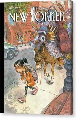 Backpack Canvas Print - New Yorker September 13th, 2010 by Peter de Seve