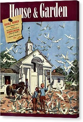 House & Garden August 1st, 1939 Canvas Print by Pierre Brissaud