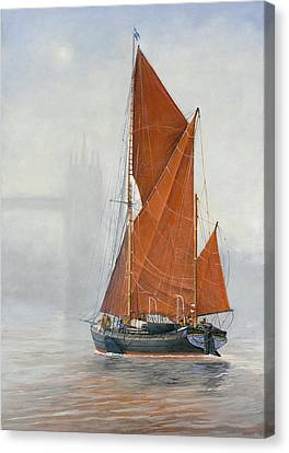 Untitled Sailing Barge 1 Canvas Print