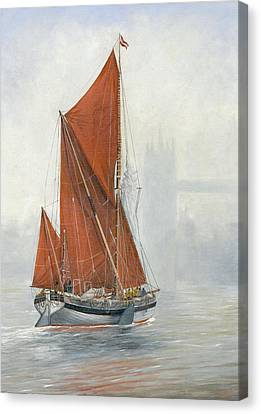 Untitled Sailing Barge 2 Canvas Print