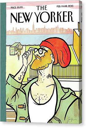Hip Canvas Print - New Yorker February 11th, 2013 by Simon Greiner