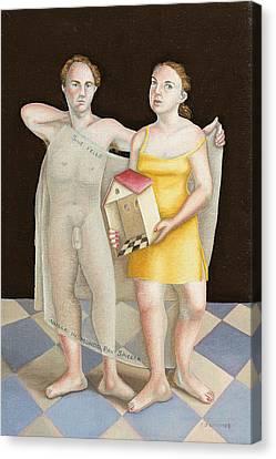 Untitled Study Canvas Print by Caroline Jennings