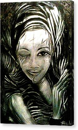 Untitled -the Seer Canvas Print by Juliann Sweet