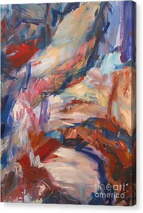 Canvas Print featuring the painting Untitled V by Fereshteh Stoecklein