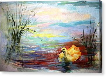 Untitled Watercolor       Canvas Print by Mary Spyridon Thompson