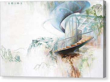 Canvas Print featuring the painting Untitled2 by Dave Platford