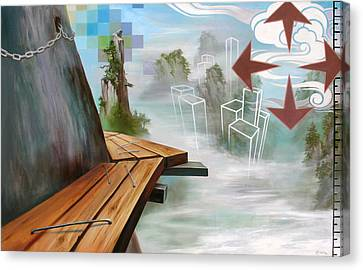 Canvas Print featuring the painting Untitled8 by Dave Platford