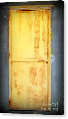Canvas Print featuring the photograph Unused Door by Clare Bevan
