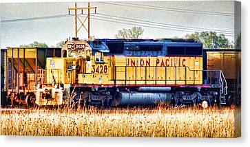 Up 3428 Rcl Locomotive In Color Canvas Print