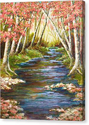 Up A Creek Canvas Print by Vic  Mastis
