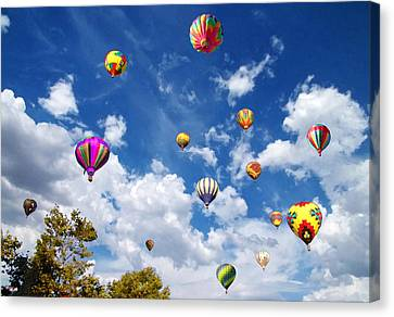 Peaceful Scene Canvas Print - Up And Away - Hot Air Balloons by Glenn McCarthy Art and Photography