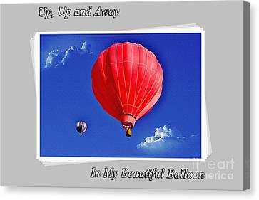 Up And Away Canvas Print by Janice Rae Pariza