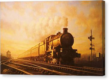 Vintage Trains Canvas Print - Up Express To Paddington by Mike Jeffries