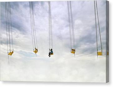 Up In The Air! Canvas Print