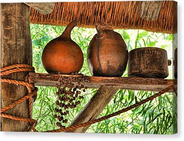 Up On A Shelf Canvas Print by Jan Amiss Photography